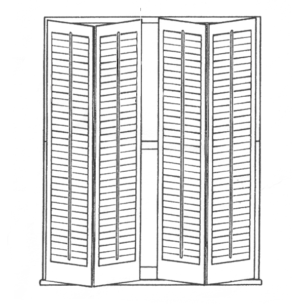 4 Full Length Panels 2 Bi-Fold Right 2 Bi-Fold Left